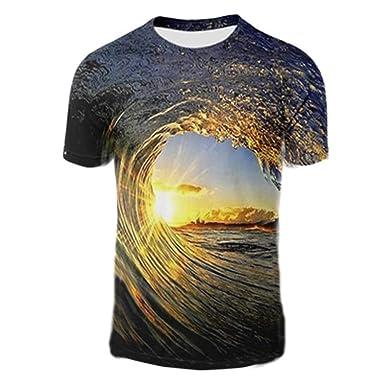 7eaddd83e EDTara Men Women 3D Vortex Pattern Printing T-Shirt: Amazon.in: Clothing &  Accessories