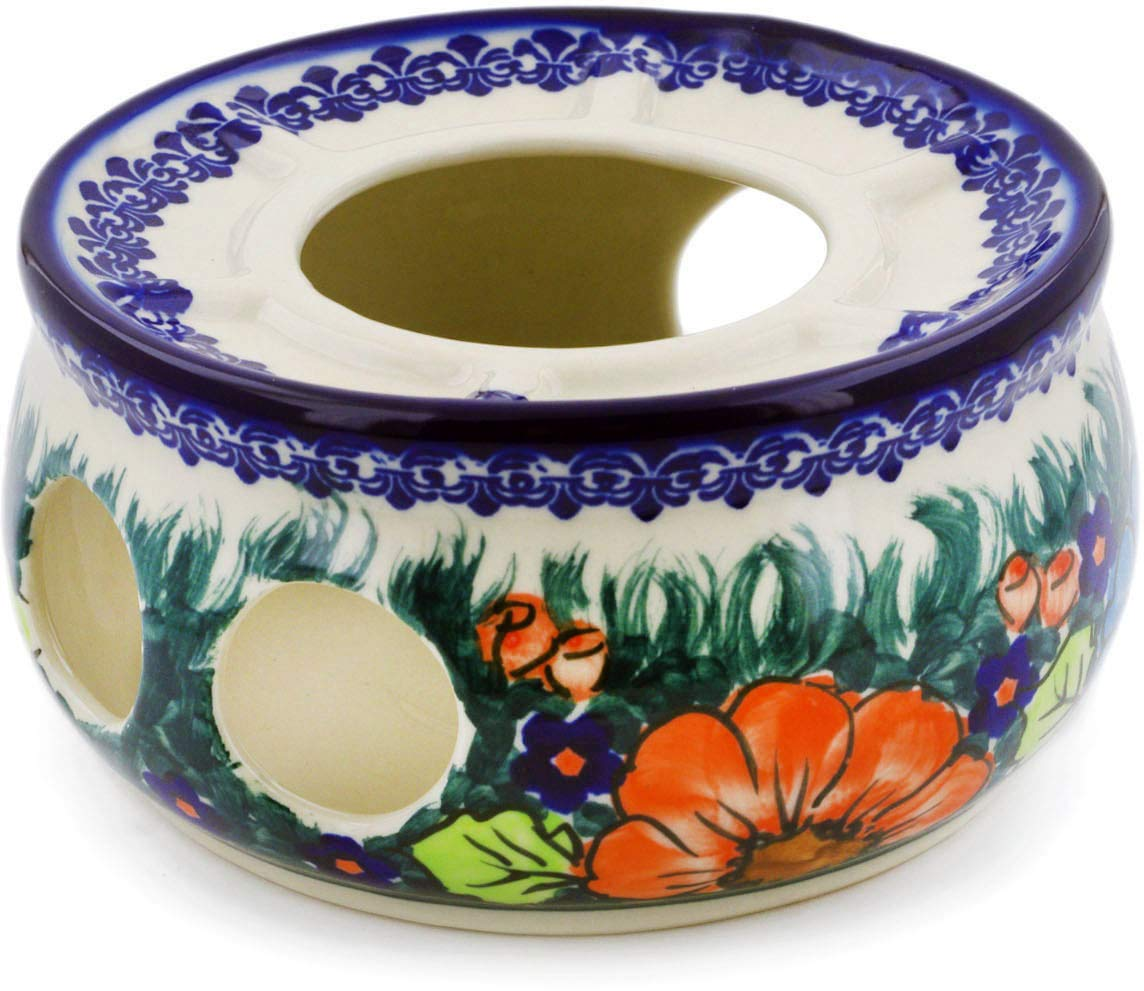 Polish Pottery 6½-inch Heater (Butterfly Splendor Theme) Signature UNIKAT + Certificate of Authenticity