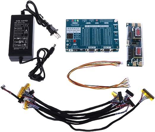 Dabixx Equipo de Prueba de Panel de Herramientas de Prueba de TV/LCD/LED para computadora portátil Línea de Pantalla de 7-84 Pulgada LVDS 6: Amazon.es: Hogar