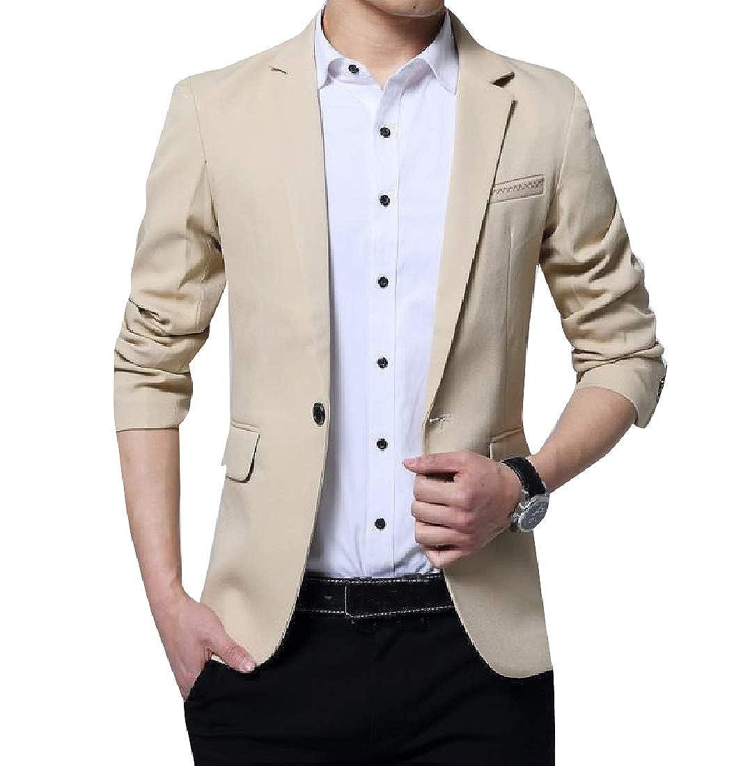 Coolred-Men Dress Suit Gentleman Original Fit One Button Blazer Coats