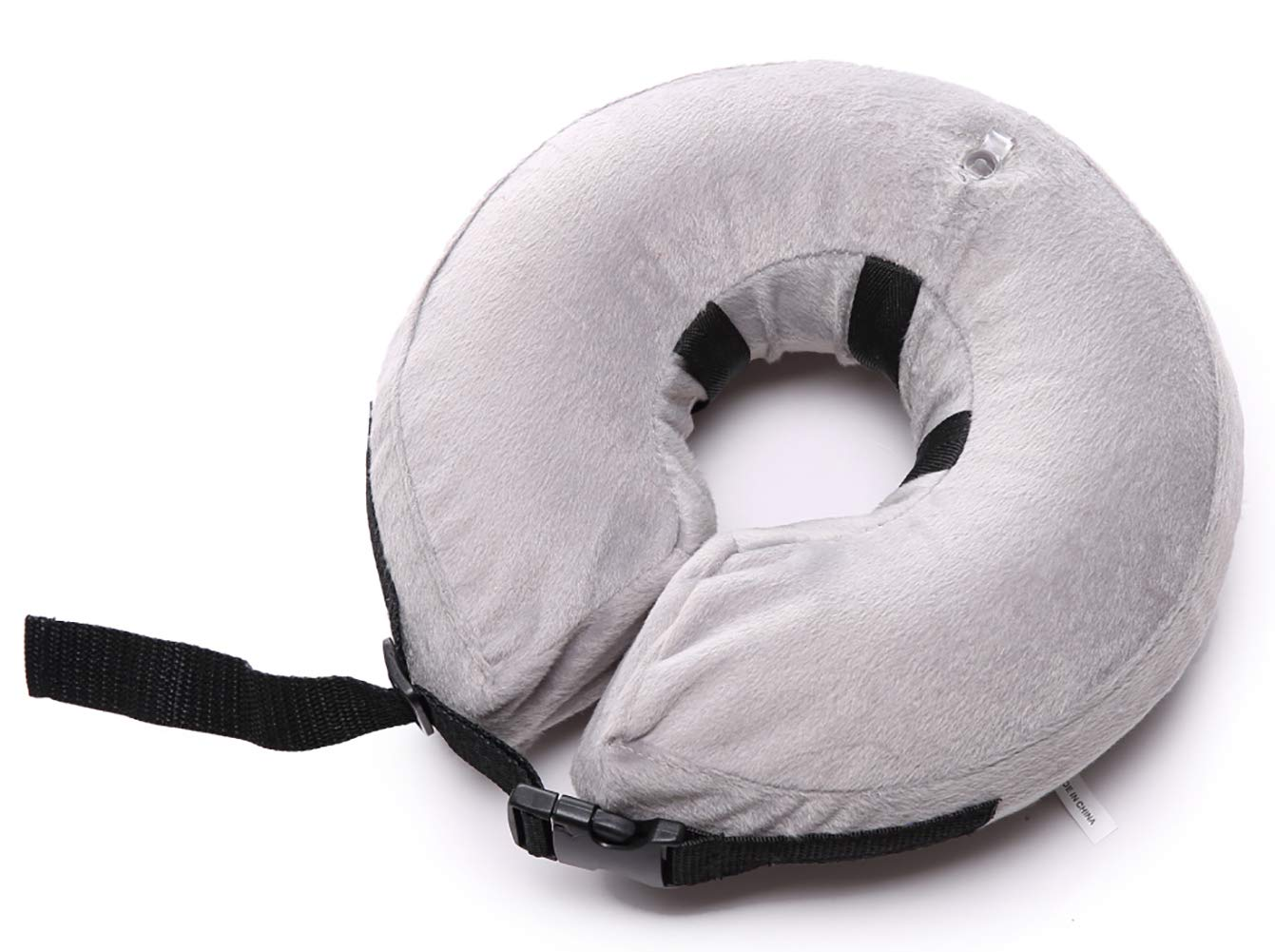 MaruPet Dog Inflatable Recovery Collar Protective Soft Detachable Washable Swimming Float Safety Does Not Block Vision E-Collar Collar Designed to Prevent Pets from Touching Stitches Gray M