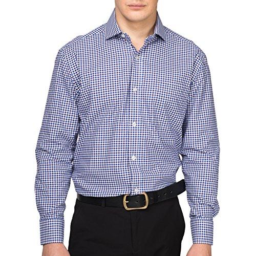 8d7de766045 Alex Vando Mens Dress Shirts Cotton Regular Fit Long Sleeve Spread Collar  Shirt