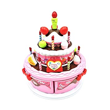 Big Time Play Birthday CakeChildrens Day Gift Food Toy SetElectric