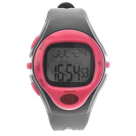 Pixnor 06221 impermeable Unisex pulso pulso Monitor calorías contador Deportes Reloj Digital con fecha alarma Stopwatch