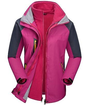 Amazon.com  Kedera Women s 3-in-1 Ski Jacket Set with Fleece Liner ... d7a9239a0