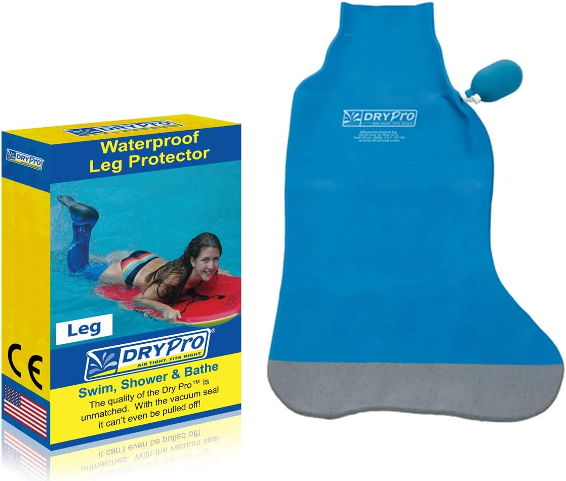 DryPro Waterproof Vacuum Sealed Half Leg Cast Cover, Small