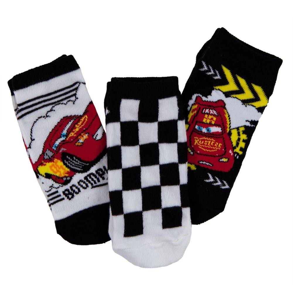 Racing Kids Boys Socks 3-Pack Cars
