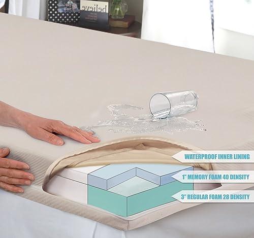 Innovex FM527FPB Fold N Go Tri-Fold Memory Foam 5 inch folding mattress
