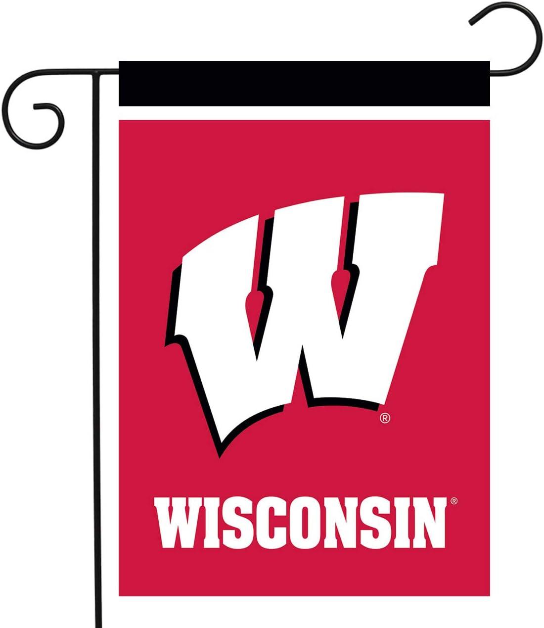 "Briarwood Lane Wisconsin Badgers Garden Flag NCAA Licensed 12.5"" x 18"""