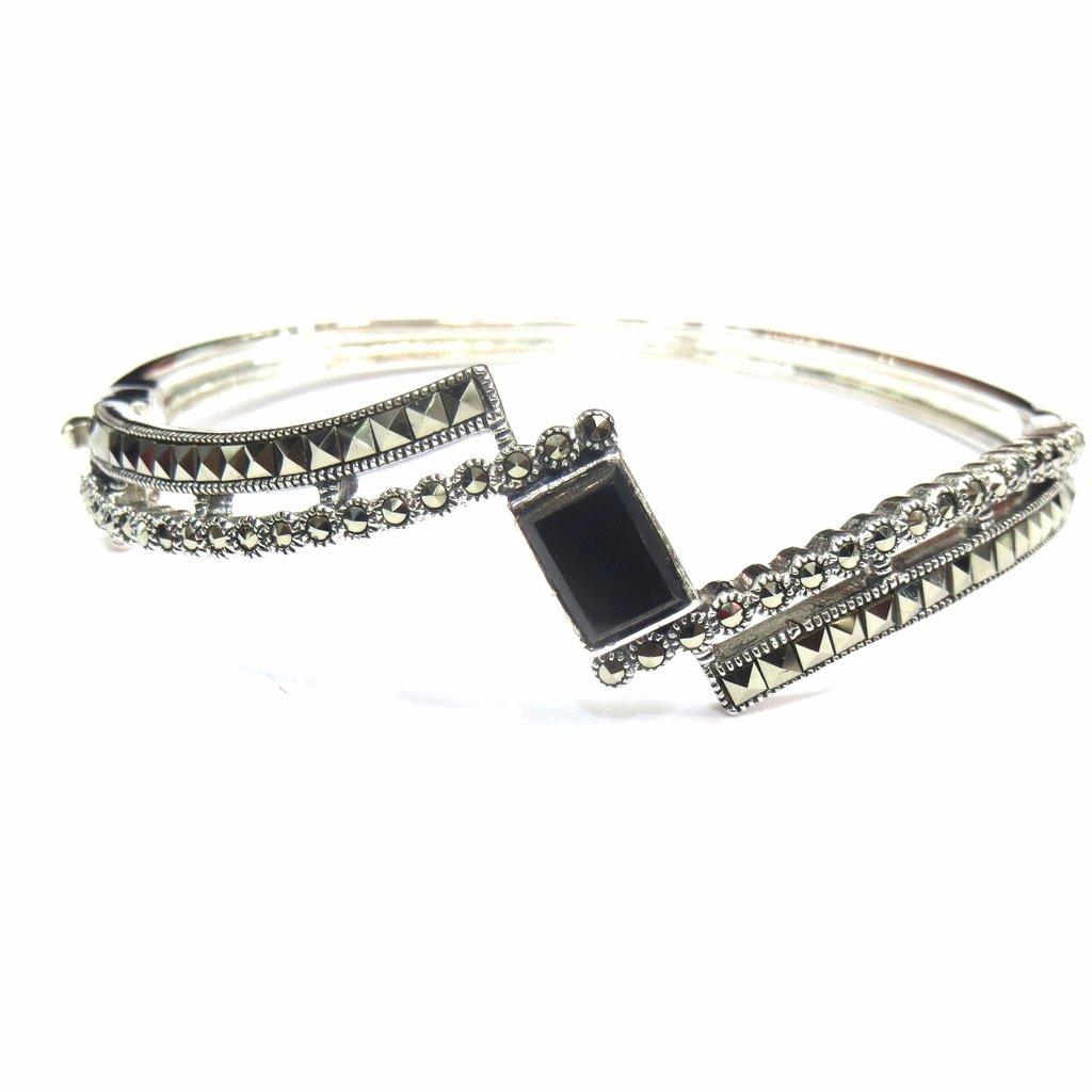 Jewelshingar Jewellery Free Size Bracelet For Girls ( 15291-ssbl-black )