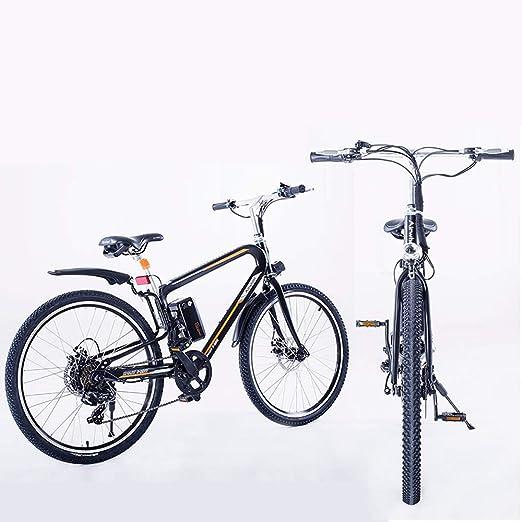 HJHJ Bicicleta eléctrica híbrida para Bicicleta de montaña ...