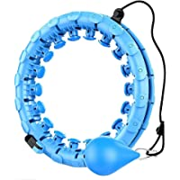Wondsea Smart Hula Ring Hoops Gewogen Hula Cirkel Oefening 2 in 1 Buik Fitness Gewichtsverlies Massage 360 ° Auto…