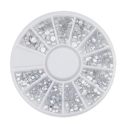 Sannysis 500pcs/caja de acrílico del Diamante 1.5-3 mm Decoración de Uñas (