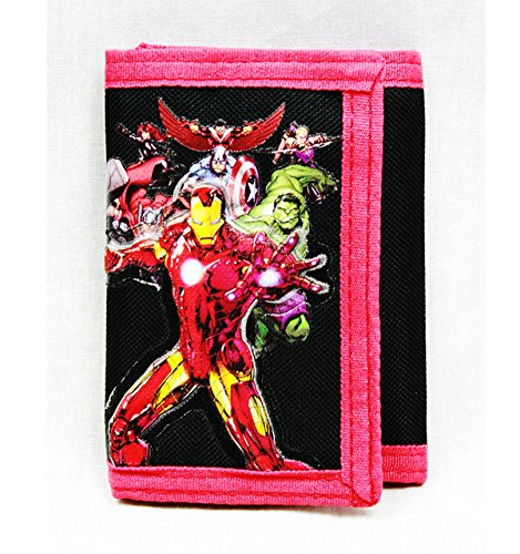 Trifold Wallet - Marvel - Avengers All Heroes Black Anime Boys New ac24790