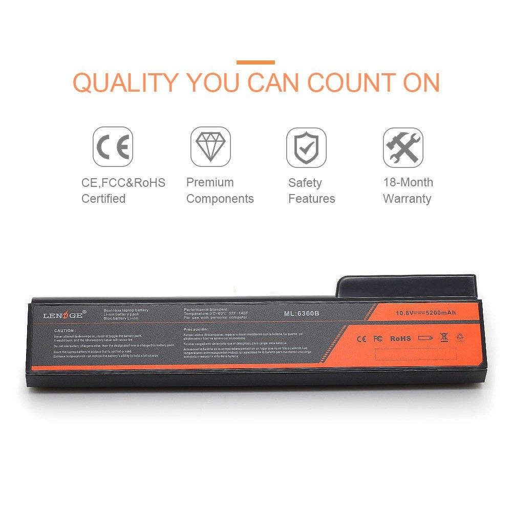 Amazon.com: LENOGE 10.8V 5200mAh Laptop Battery Compatible for HP EliteBook 8460p 8460w 8470p 8470w 8560p 8570p 8770P CC03 CC06 CC06X CC06XL CC09 HSTNN-CB2F ...