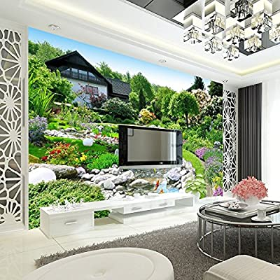 XLi-You Large Paintings Of Natural Landscapes Wallpaper 3D Stereo Bedroom Sofa Tv Wall Seamless Wall Cloth Paintings