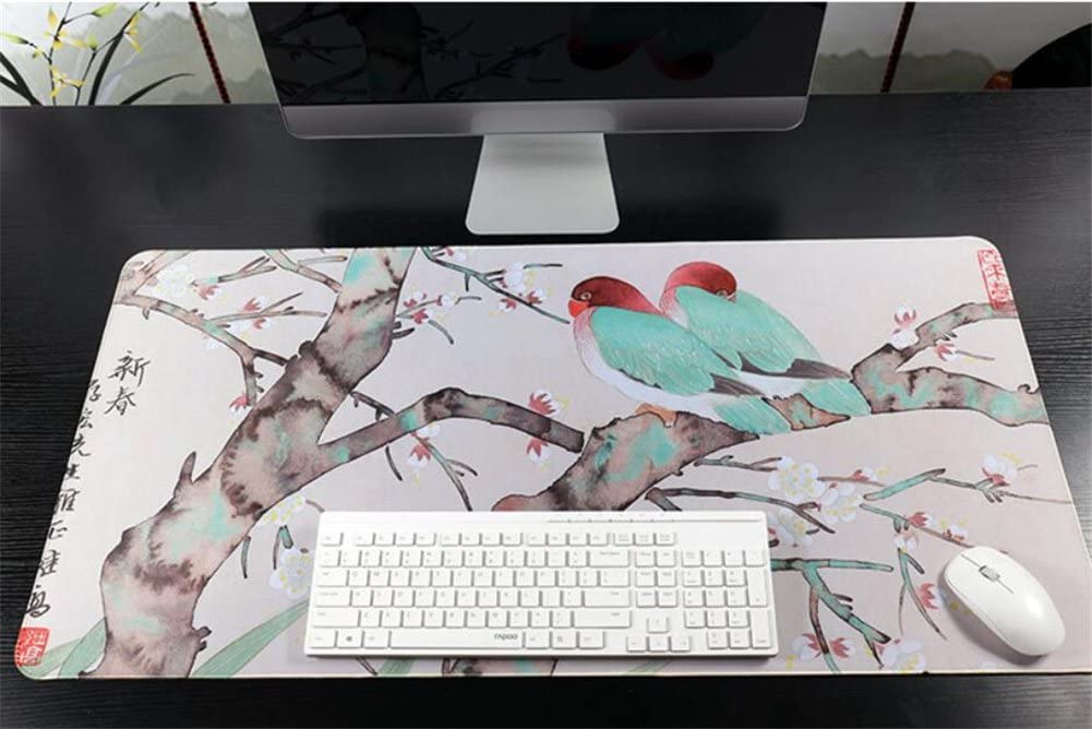 LL-COEUR Extended Non-slip Mousepad Super Large Gaming Mouse Mat Long Table Desk Pad 100 x 50 x 0.3 cm Along the River During the Qingming Festival