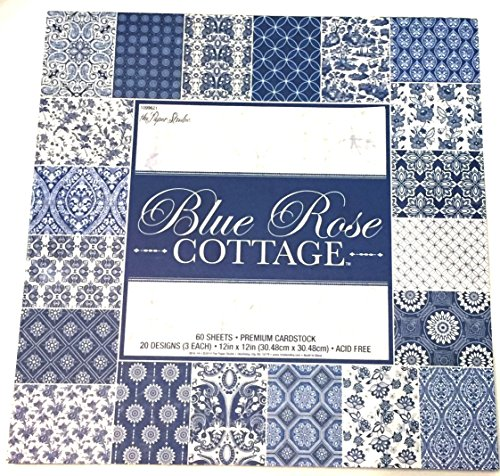 Blue Rose Cottage 12x12 Paper Pack Premium Cardstock Scrapbooking 60 sheets