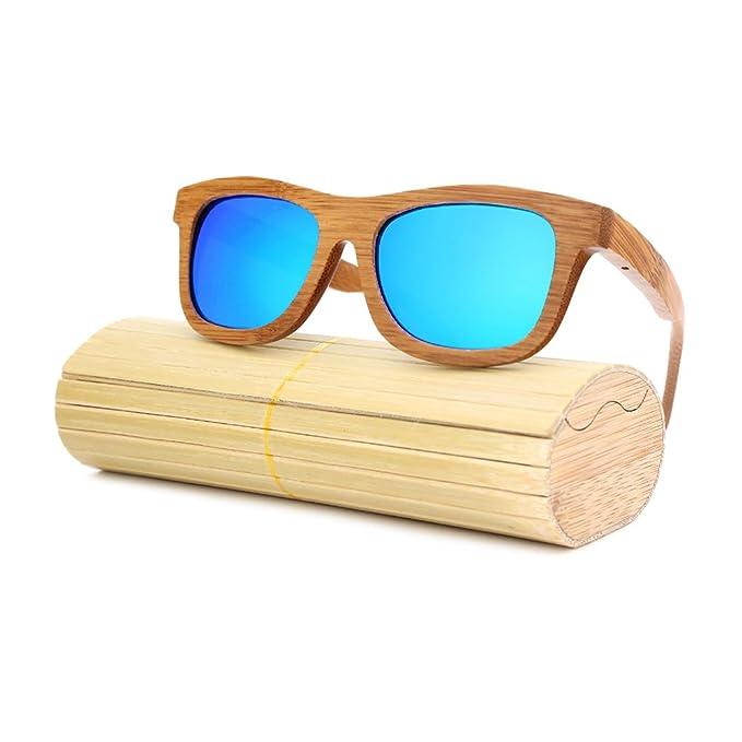 0c6e270d12ac Angcen Glasses Men s Women s Wood Blue Plorized Sunglasses (bamboo