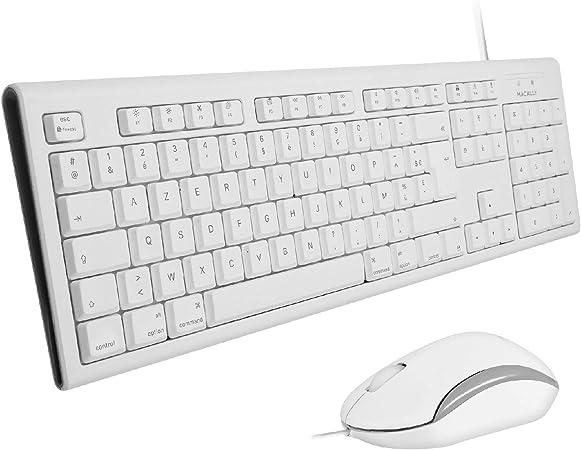 Macally QKEYCOMBO-FR, Teclado extendido USB para Mac, diseño ...
