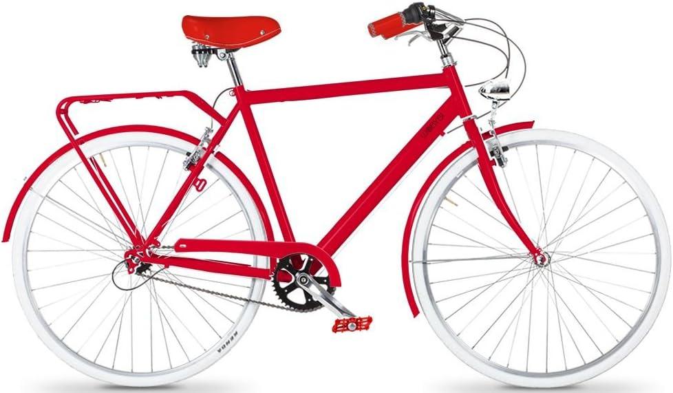 Bicicleta de paseo hombre ROJA - 3 velocidades **OFERTA**: Amazon ...