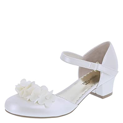 7f325493e8f0 SmartFit Pearlized Ivory Girls  Cici Flower Heel 10.5 Regular
