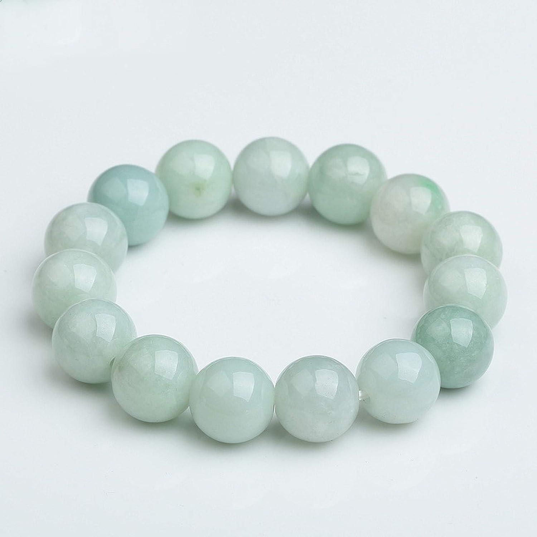 Pulsera de jade natural, pulsera de cuentas redondas de jade birmano, pulseras de jade masculino y femenino. Buenos regalos