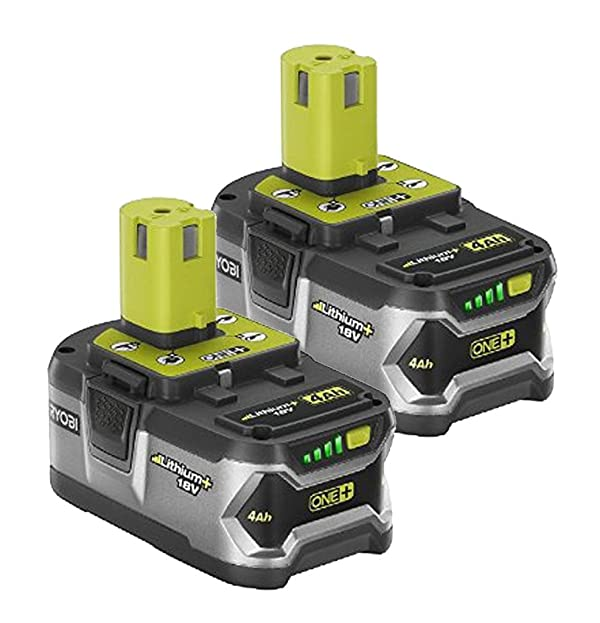 Ryobi P122 4AH One+ High Capacity Lithium Ion Batteries For Ryobi Power Tools (2 Pack of P108 Batteries) (Color: Gray)