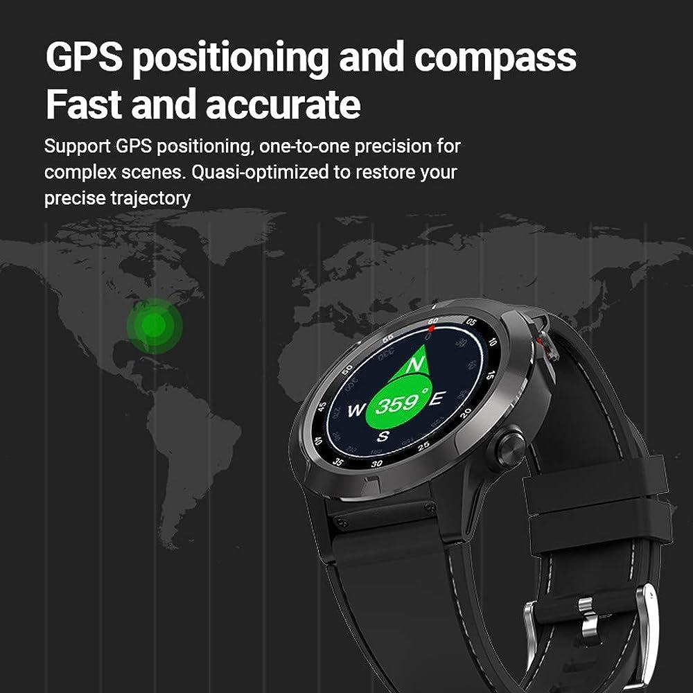 JIJI886 Digital Smart Sport Watch - Ubicación GPS, brújula, pulsómetro, Reloj de Pulsera Fitness Activity Tracker Reloj de Hombre IP67 Impermeable: Amazon.es: Relojes