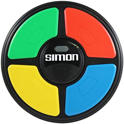 Basic Fun Simon Electronic Game with Digital Screen and Built-In Counter, 9-Inch Diameter: Toys & Games