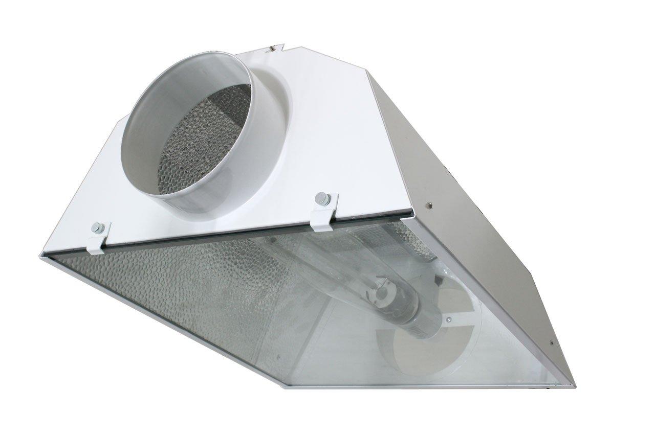 iPower GLARCL6 Littlesun Hood Reflector, 6-Inch, Standard Hydroponics S-Plug w/ Built-in 10-feet Heavy Duty Lamp Cord & E39 Ceramic Mogul Socket