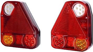 2 Stück X Led Rückleuchte Heckleuchte 12v 24v Mit E Prüfzeichen Rücklicht Rück Hinten Reflektor Rückstrahler Auto Lkw Pkw Kfz Smd Paar Universal Auto