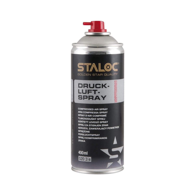 STALOC Druckluft-Spray nicht brennbar | Druckluftreiniger | fü r die Reinigung von Tastatur, Boxen, Kameras, Modellbau usw. | 400 ml Stankovsky V110A660S306