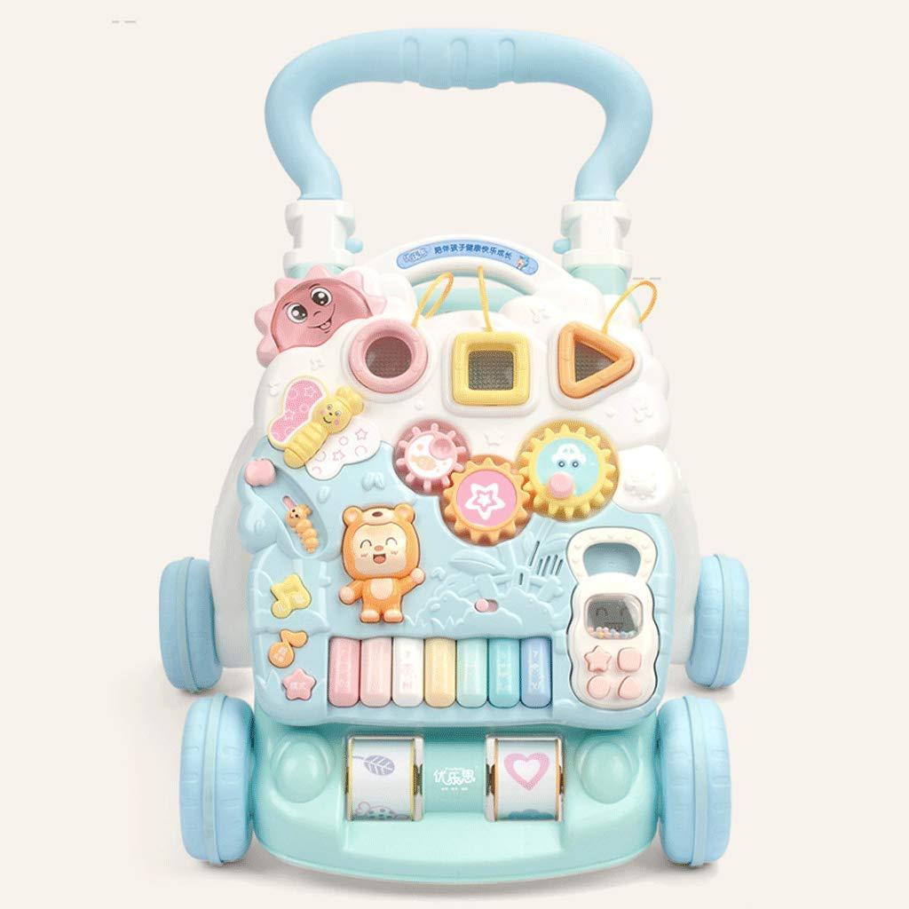 有名ブランド ベビーハンドプッシュウォーカーロールオーバー1-3歳の赤ちゃんウォーキング多機能玩具   B07JYX18J1, 靴ネット通販コア:8199c1d8 --- kilkennyhousehotel.ie