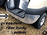 Club Car Precedent Golf Cart Diamond Plate Rear Body Armor