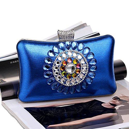 Hombro Para Tutu Mujeres Blue Monedero Diamantes La Mensajero Bolsas De Embrague Del Las Cadena Noche Boda Bolso El Imitación Acrílico Bolsos aw1ar7qX