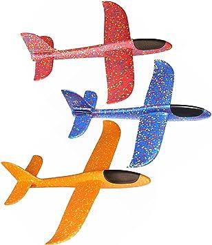 Contever 48cm Aviones Planeadores Juegos y Fiestas Infantiles (Pack de 3): Amazon.es: Juguetes y juegos