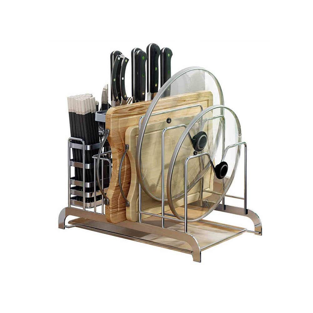 Kitchen Racks Multi-Function Pot Racks, Sitting Boards, Cutting Boards, Floor Knives, Supplies, Chopping Boards, Racks, Racks, Shelves Yixin (Color : A, Size : 33.52124.5cm)