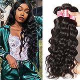 hair weave sealer - Donmily 8A Remy Brazilian Natural Wave Hair 3 Bundles 100% Unprocessed Brazilian Virgin Human Hair Weft Cheap Wavy Hair Weave Natural Color (8 10 12)