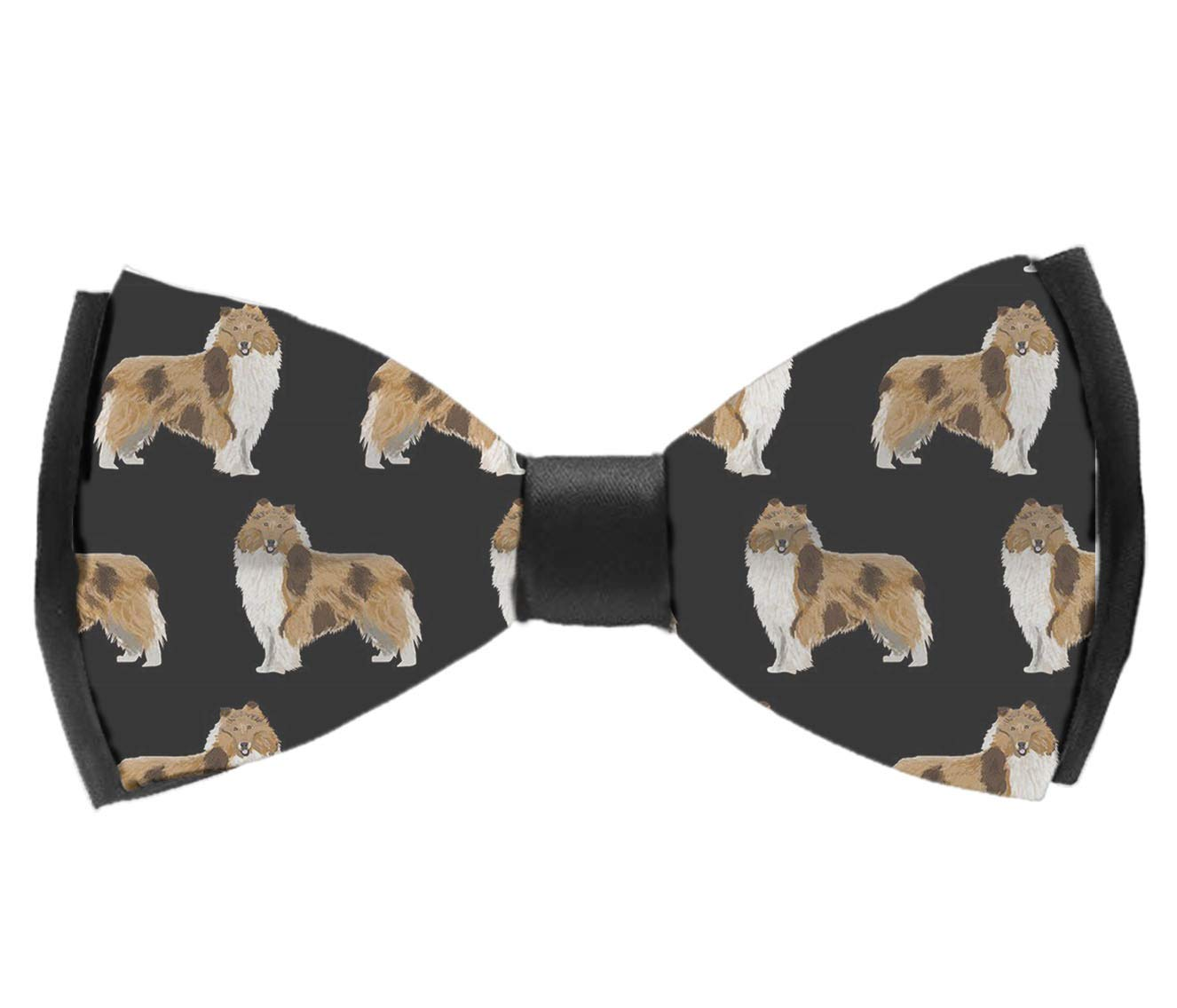 Adjustable Rough Collie Dog Bowtie for Wedding Holiday Party INWANZI Mens Fashion Pre-Tied Bow Tie