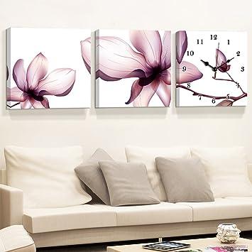 Decoration MEIDUO Wand Dekor Moderne Wohnzimmer Restaurant Dreibettzimmer  Mode Rahmen Wanduhr Malerei Schlafzimmer