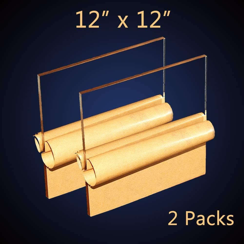 12x12 Clear Acrylic Sheet Plexiglass - 1/8
