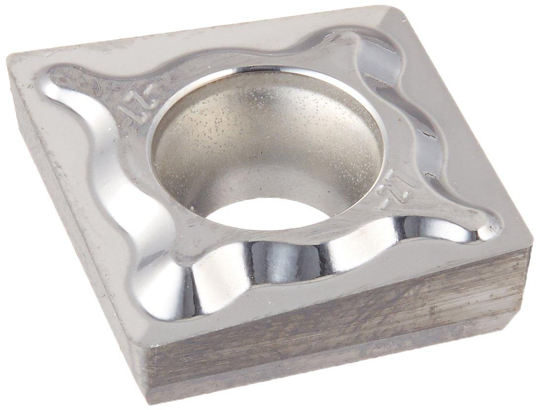 Ceratizit XCET Carbide Ecocut Insert, H216T Grade, -27P Chip Groove, 13.5 mm Insert Size, 12.5 mm Length, 4.76 mm Thickness, 5.30 mm Hole Diameter, 0.4 mm Corner Radius