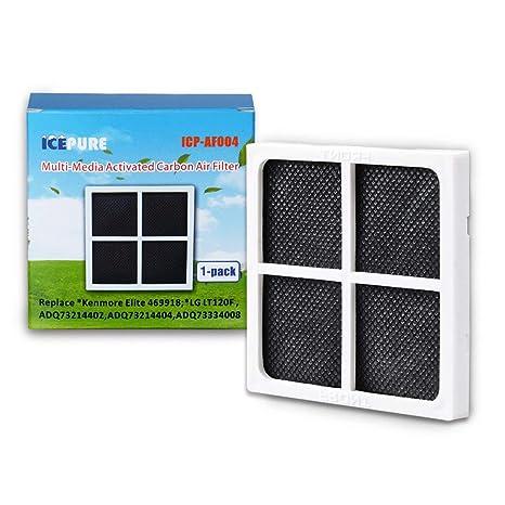 fabf6d4a3d024 Refrigerator Air Filter (4 Pack) Compatible with Kenmore Elite 469918; LG  LT120F ADQ73214402, ADQ73214404, ADQ73334011