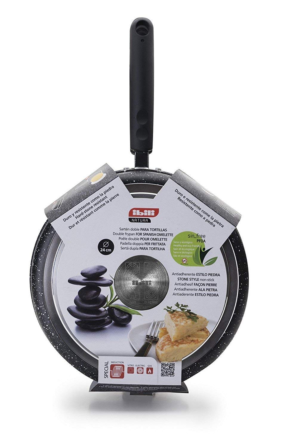 Amazon.com: Ibili Stone Quartz Induction Omelette Pan Tortilla ...
