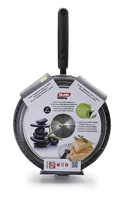 IBILI 441024 sartén para Tortilla Natura Aluminio Aluminio 24 cm: Amazon.es: Hogar