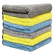 洗車タオル より大きい より厚い 6枚セット 40x40cm 吸水 速乾 ...