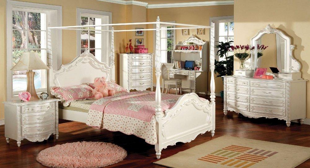 247SHOPATHOME IDF-7519T Childrens-Bed-Frames, Twin, White
