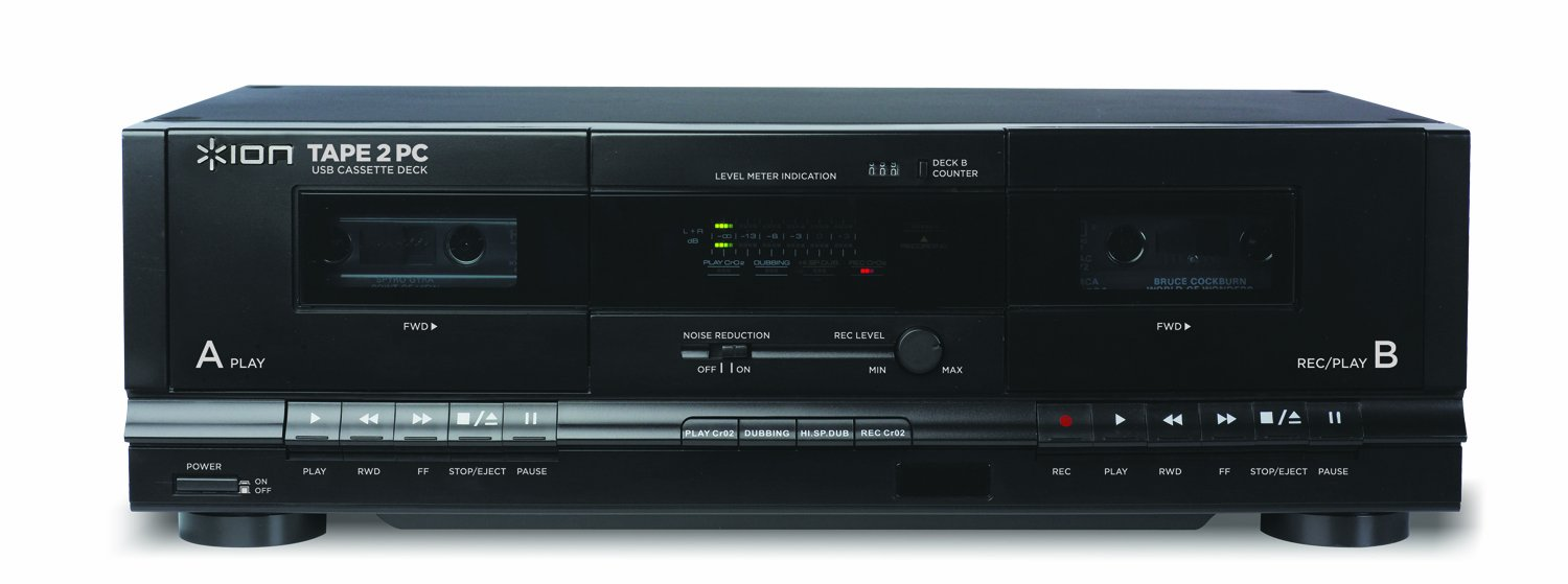 Amazon.com: ION Audio Tape 2 PC | USB Cassette Deck Conversion System with RCA & USB cables: Musical Instruments