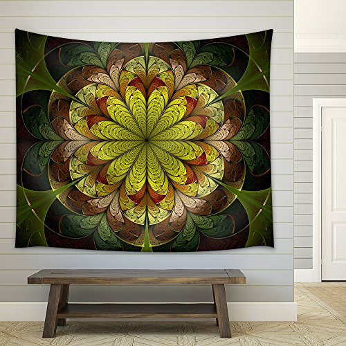 Spring Fractal Flower Fabric Wall